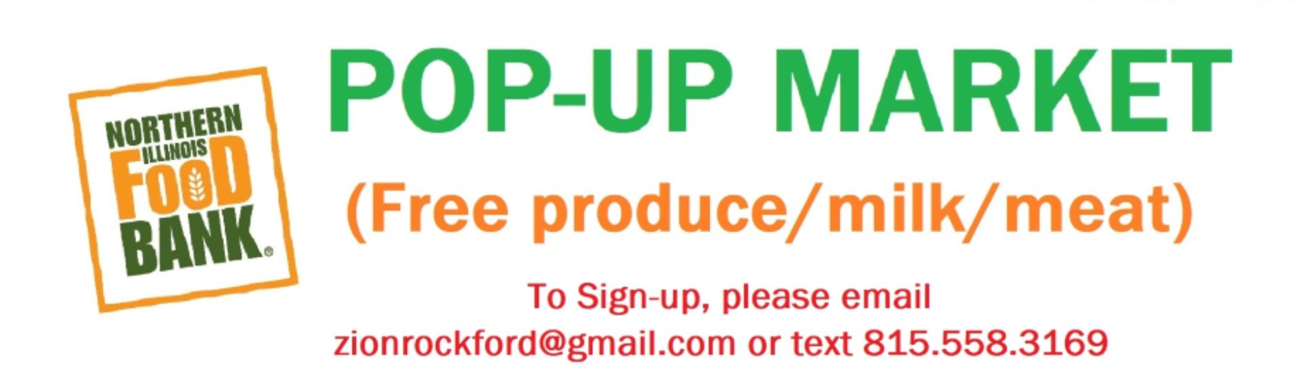 Pop Up Market signup
